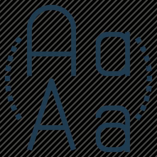 alphabet, font, letter, typeface icon