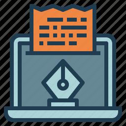blog, content, web, website, write icon