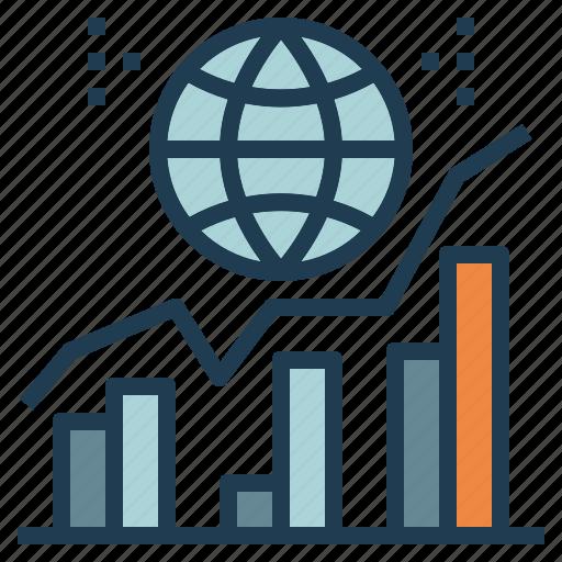 analysis, global, statistics, traffic, web, world icon