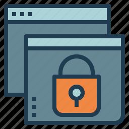 design, lock, security, web, website icon