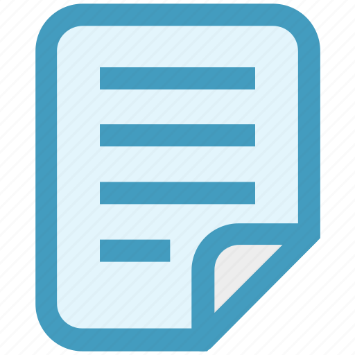 document, file, list, note, page, paper, report icon