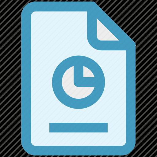 analytics, chart, document, file, graph, paper, presentation icon
