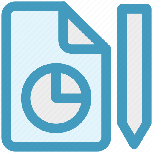 edit, format, graph, page, paper, pencil icon