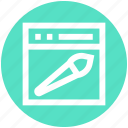brush, internet, layout, paint brush, seo, web design, webpage icon