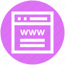 blog, browser, internet, web, webpage, website, www icon