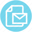 document, envelope, file, letter, mail, message, page icon