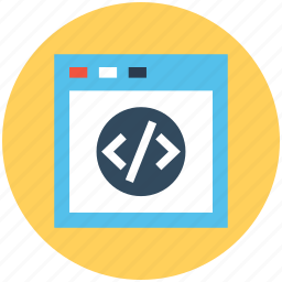 css, php, programming, source code, web development icon