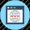 cyberspace, internet browser, internet site, website, www