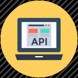 api, api concept, api interface, application programming interface, laptop screen icon