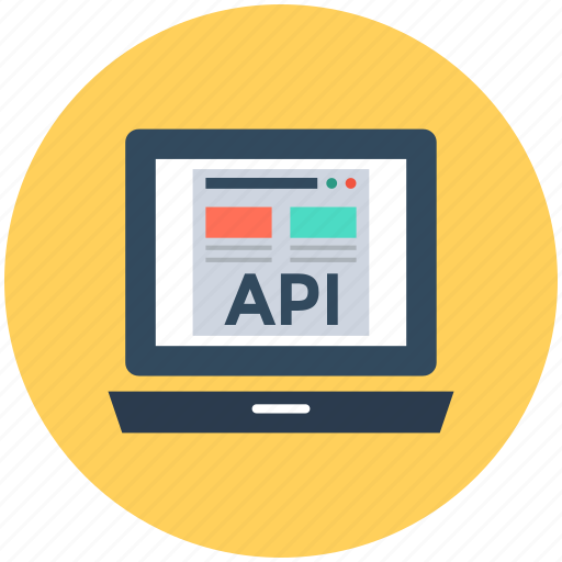 api, api concept, api interface, application programming interface, laptop screen icon