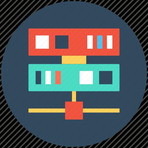 database sharing, information access, server hosting, server network, shared info icon
