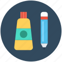 design element, designing, graphic, paint tube, pencil icon