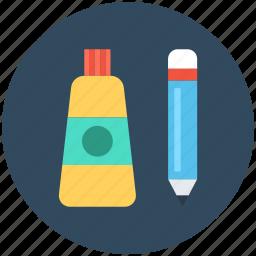 design element, designing, graphic, paint tube, pencil icon