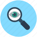 exploration, eye, magnifier, magnifying glass, search