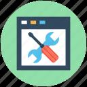 web maintenance, web tools, website configuration, website setting, website under construction icon