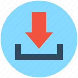 down arrow, download, downloading, inbox, web element icon