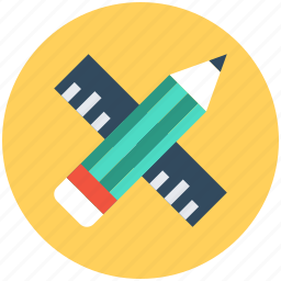 drafting tools, drawing tools, geometrical tools, pencil, ruler icon