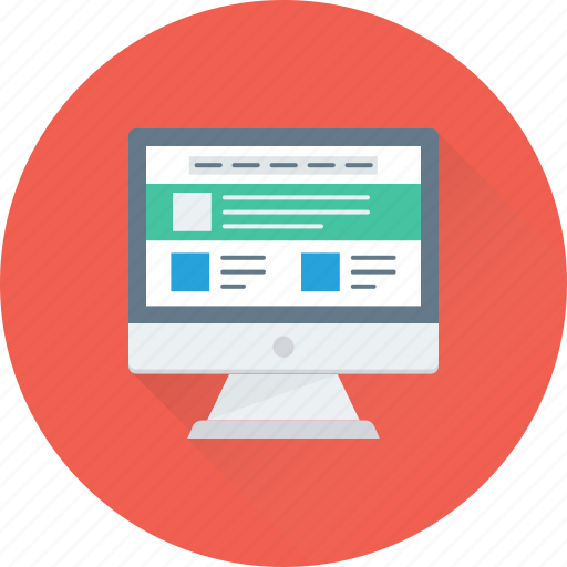 lcd, monitor, template, web designing, wireframe icon