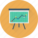 analytics, graph, market trend, presentation, statistics icon
