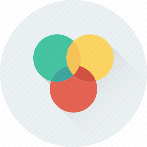circles, design, model, overlap, overlay icon