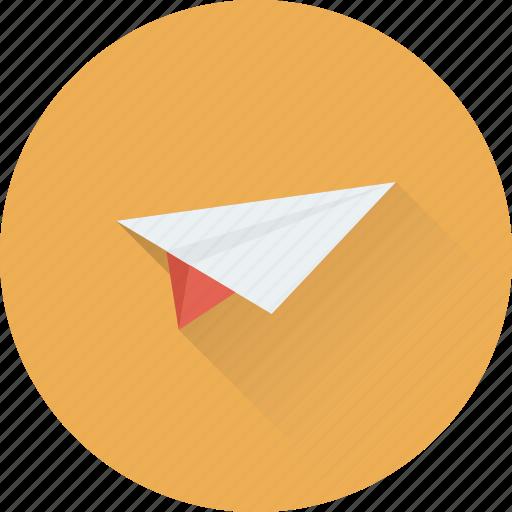 mail, message, origami, paper plane, send icon