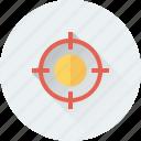 aim, crosshair, focus, objective, target icon