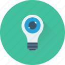 bulb, creativity, eye, imagination, inspiration icon