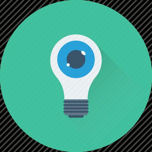 bulb, creativity, eye, imagination, inspiration icon