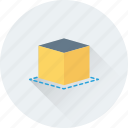 3d cube, cube, design, geometrical, shape icon