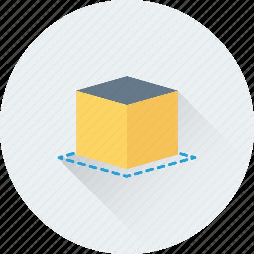 3d cube, cube, design, geometrical, shape icon