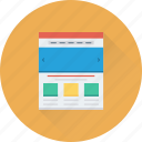 web design, web page, web template, website, wireframe icon