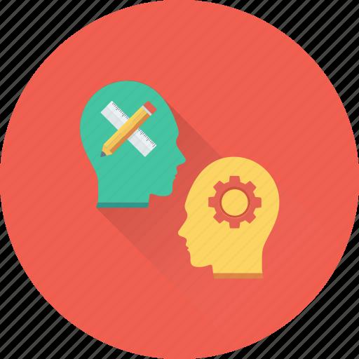 creative mind, head, innovative, intelligent, mind icon