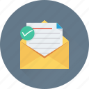 email, envelope, letter, message, message sent icon