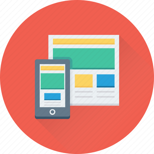 adaptive, layout, mobile, responsive, website icon