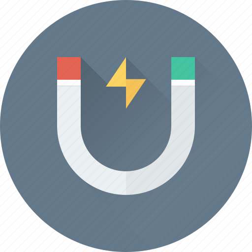 attraction, horseshoe magnet, interaction, magnet, physics icon