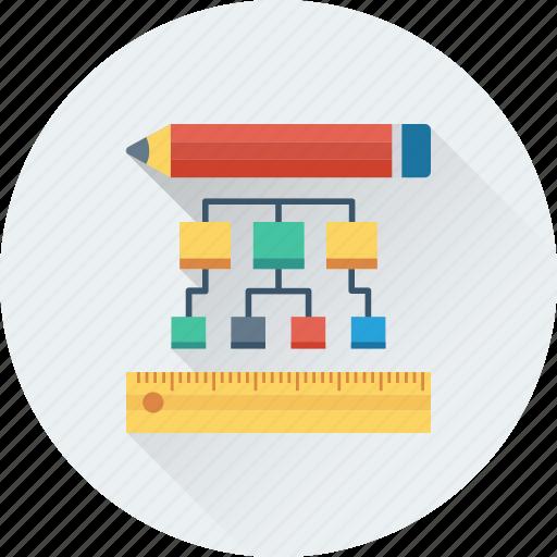 blueprint, drafting, pencil, scale, scheme icon