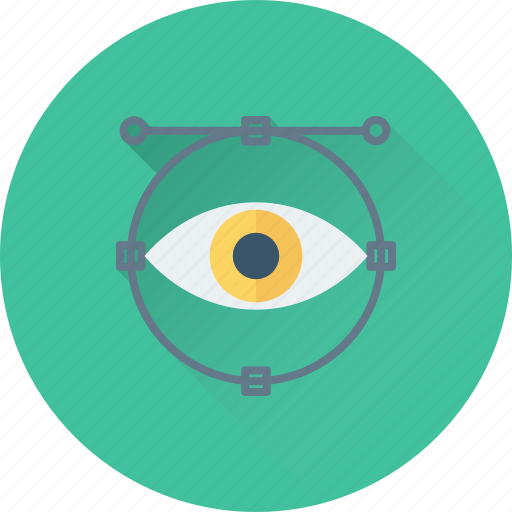 create, designing, eye, look, see icon