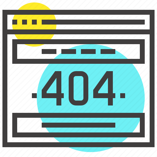 404, browser, error, internet, page, web, website icon