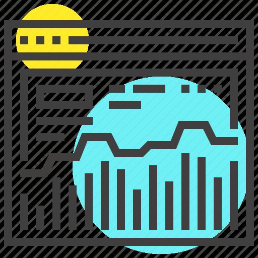 analysis, analytics, chart, graph, monitoring, statistics, web icon