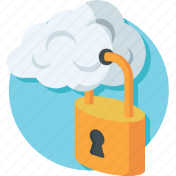 cloud, cloud lock, computing, protection, security icon