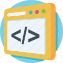 coding, development, html, source code, web icon