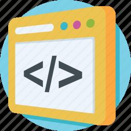 coding, development, html, source code, web icon
