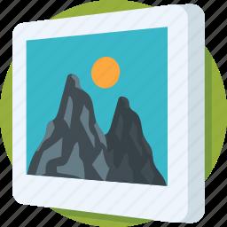 image, landscape, photo, photograph, picture icon