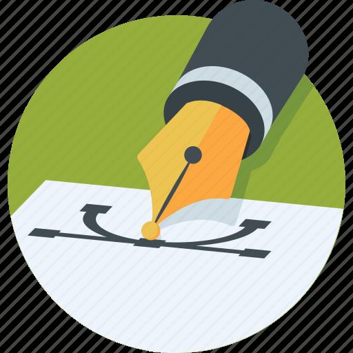 bezier, design, graphics, interface, pen tool icon