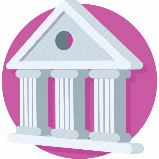 bank, building, court, courthouse, real estate icon