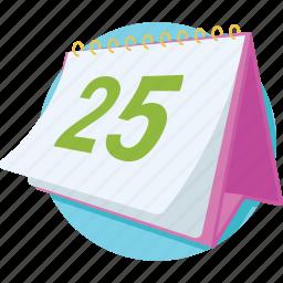 calendar, calendar date, date, day, yearbook icon