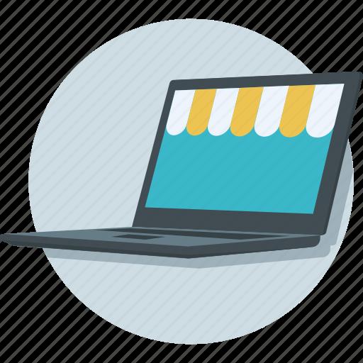 laptop, open laptop, page, web, webpage icon