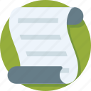 document, note, office document, sheet, text sheet icon