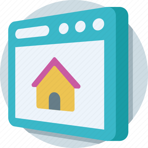 home, homepage, house, real estate, web icon