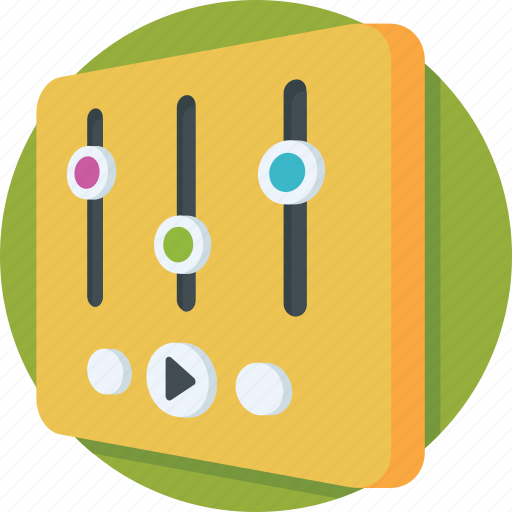 adjuster, equalizer, mixer, preferences, settings icon